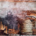 S.Elantseva, 'Flax Mill, Shrewsbury',Mixed media on wood,445mm-340mm