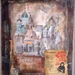 S.Elantseva,Memorry of chailhood, mixed media on wood