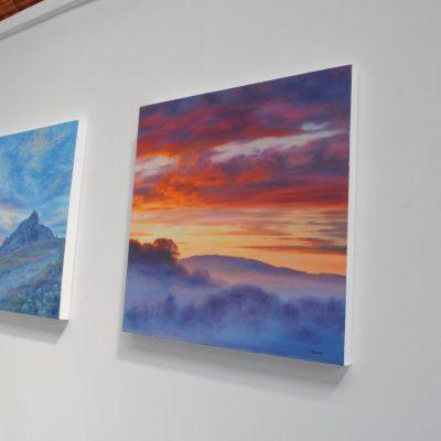 Original Artwork on art gallery wall