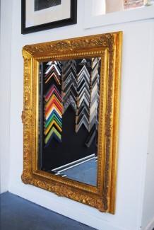 Swept frame around Mirror