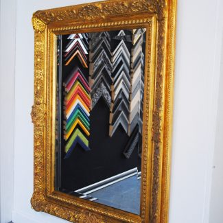 Swept frame around Mirror