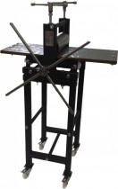 Small etching press on wheels