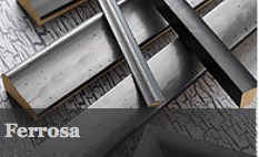 The Ferrosa range is available in pewter and iron. It has a smooth, striking look with dimples across its surface. This is a stylish and contemporary moulding which complements a wide range of artwork.