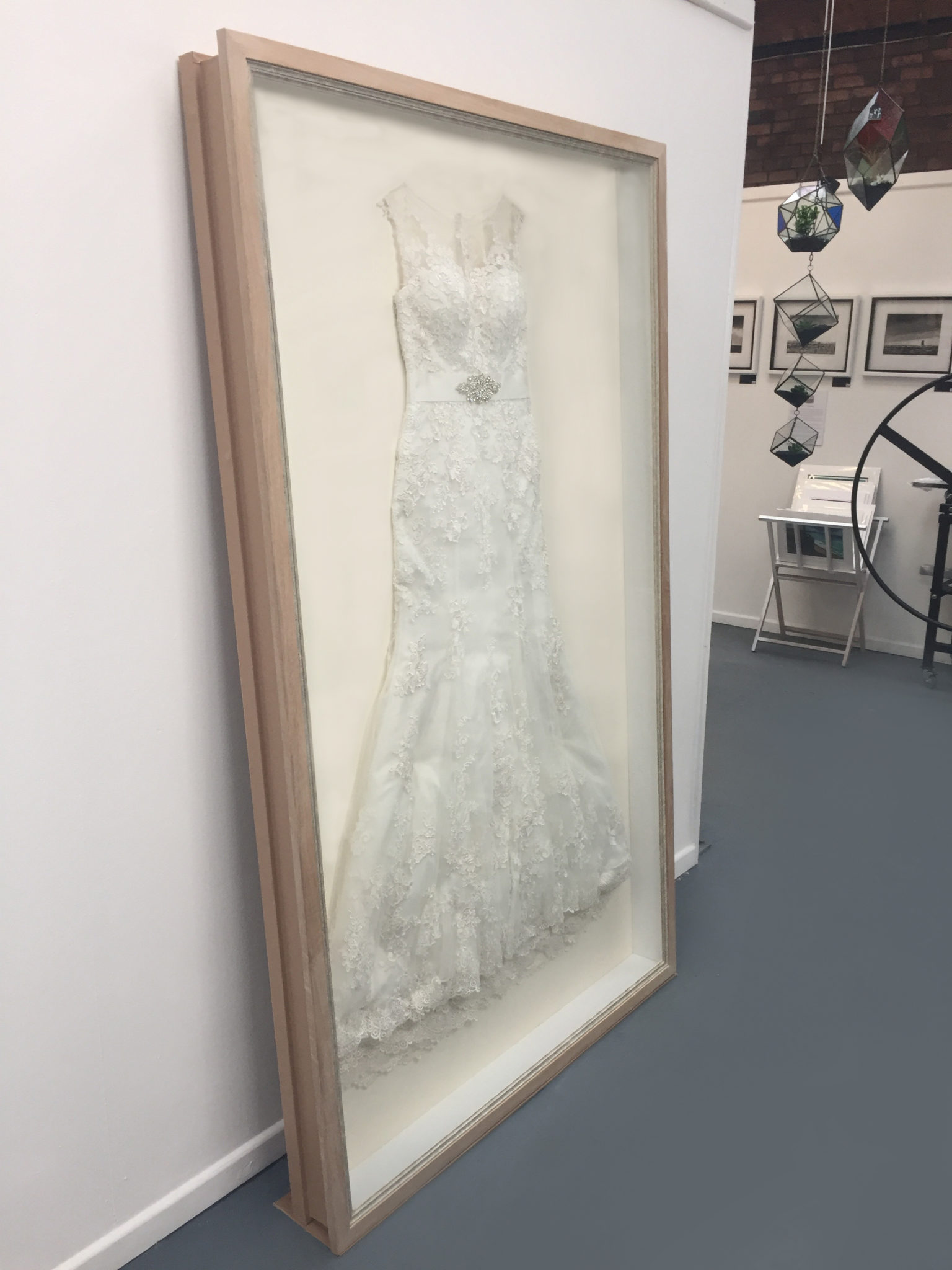 Wedding Dress Framing | Ironbridge Framing and Fine Arts