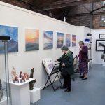 Visitors in Ironbridge art gallery