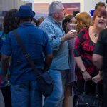 Visitors to art gallery