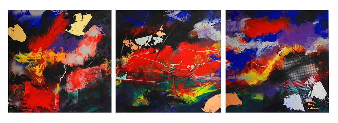 Blue Underground triptych