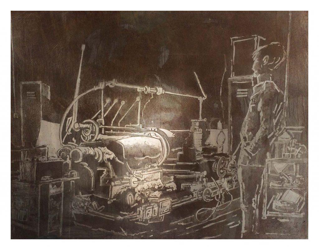 G & P Machine print