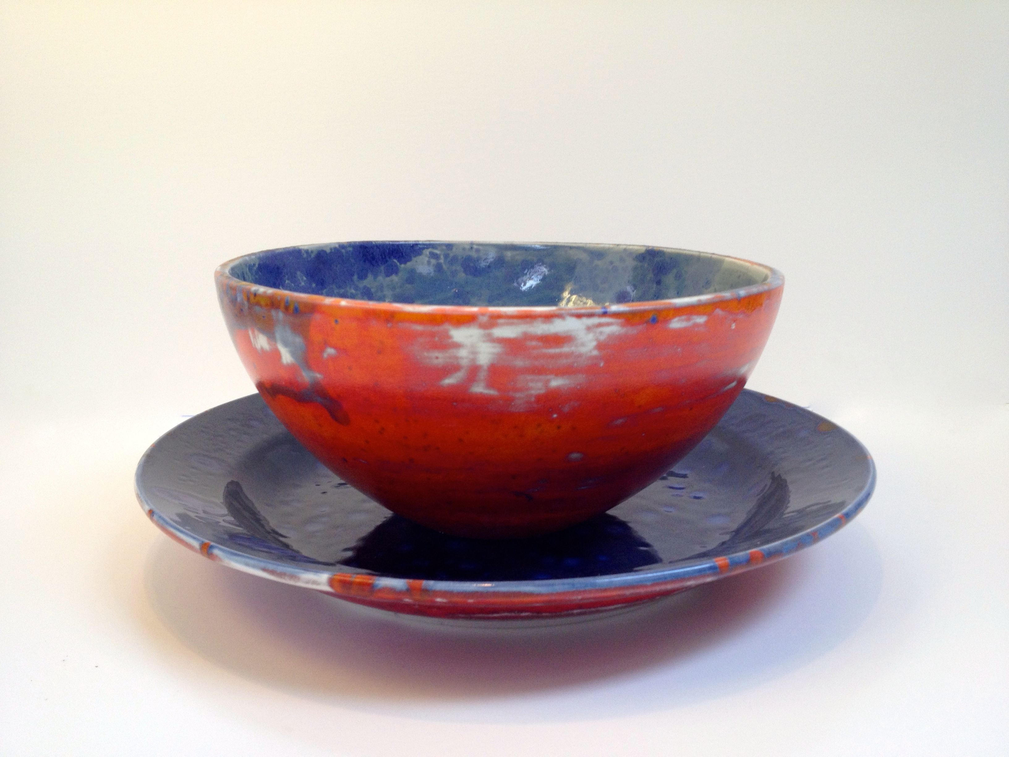 Earthen ware Clay Platter and bowl