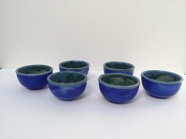 artwork blue bowls