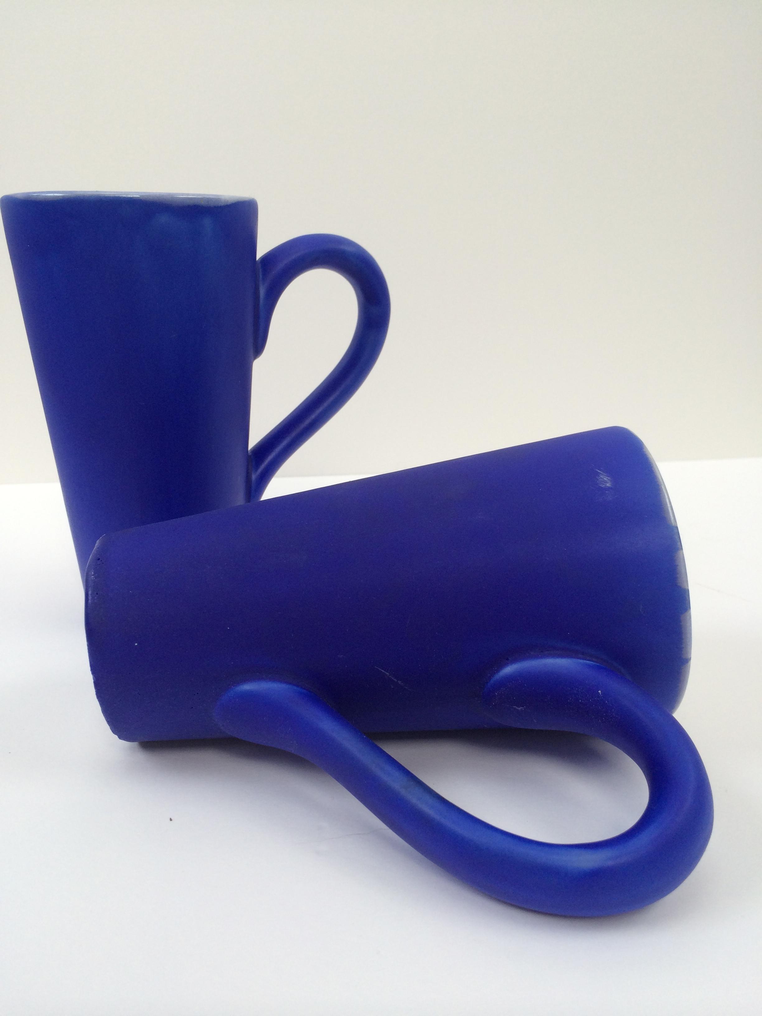 sculpture blue jugs