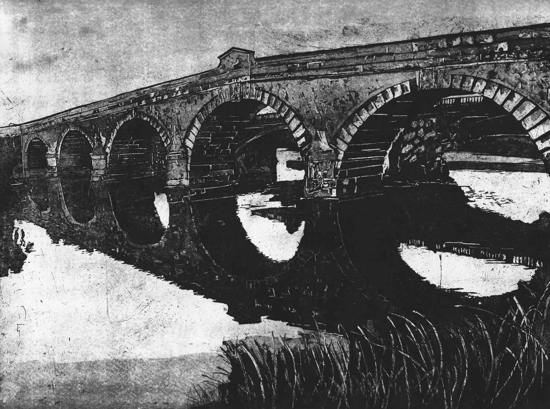 bridge artwork black and white
