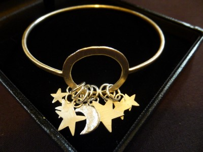 Item 25 Silver Star and moon bangle