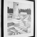 framed Ruined Roman Bath print