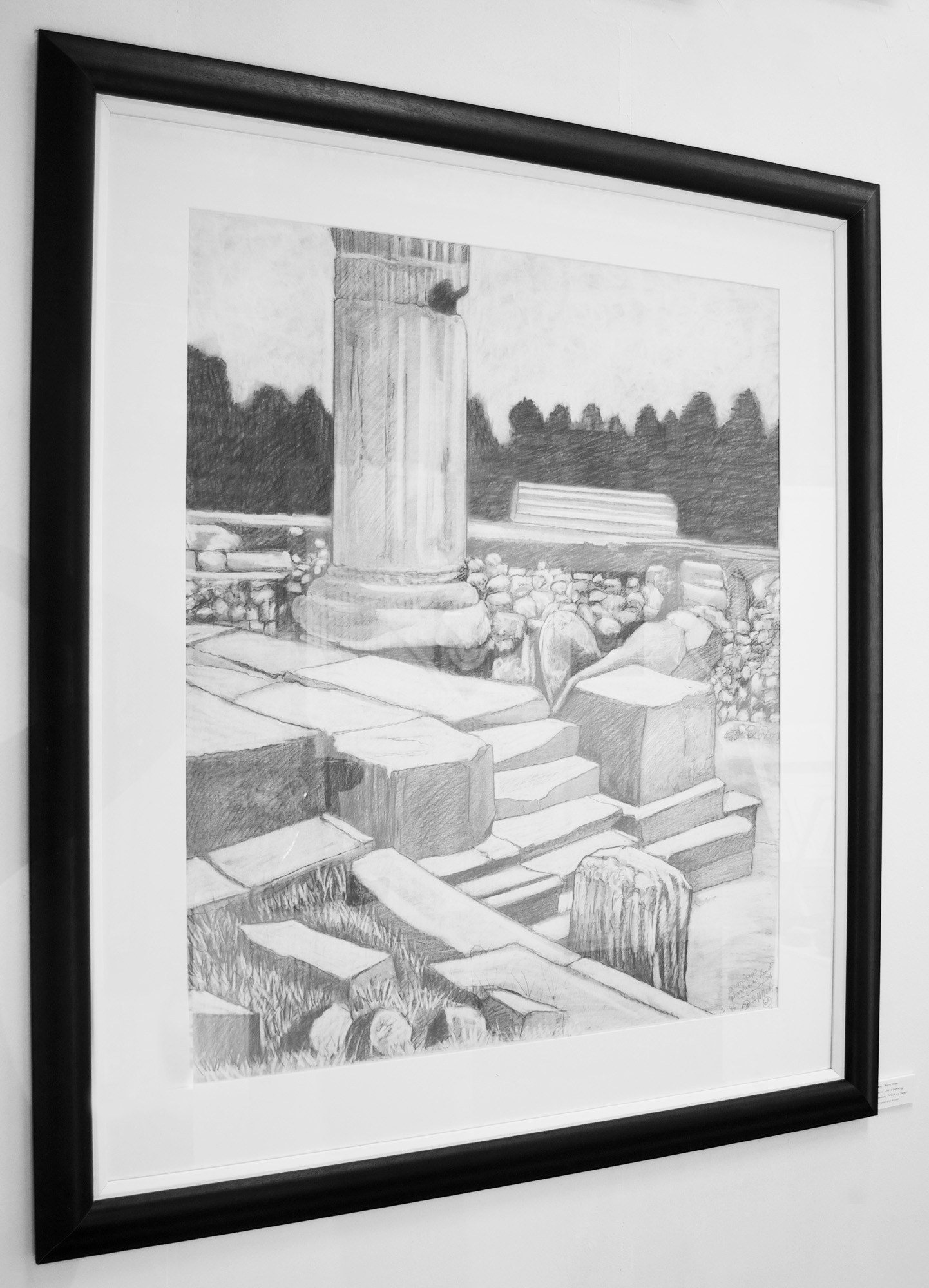 framed Ruined Roman Bath print