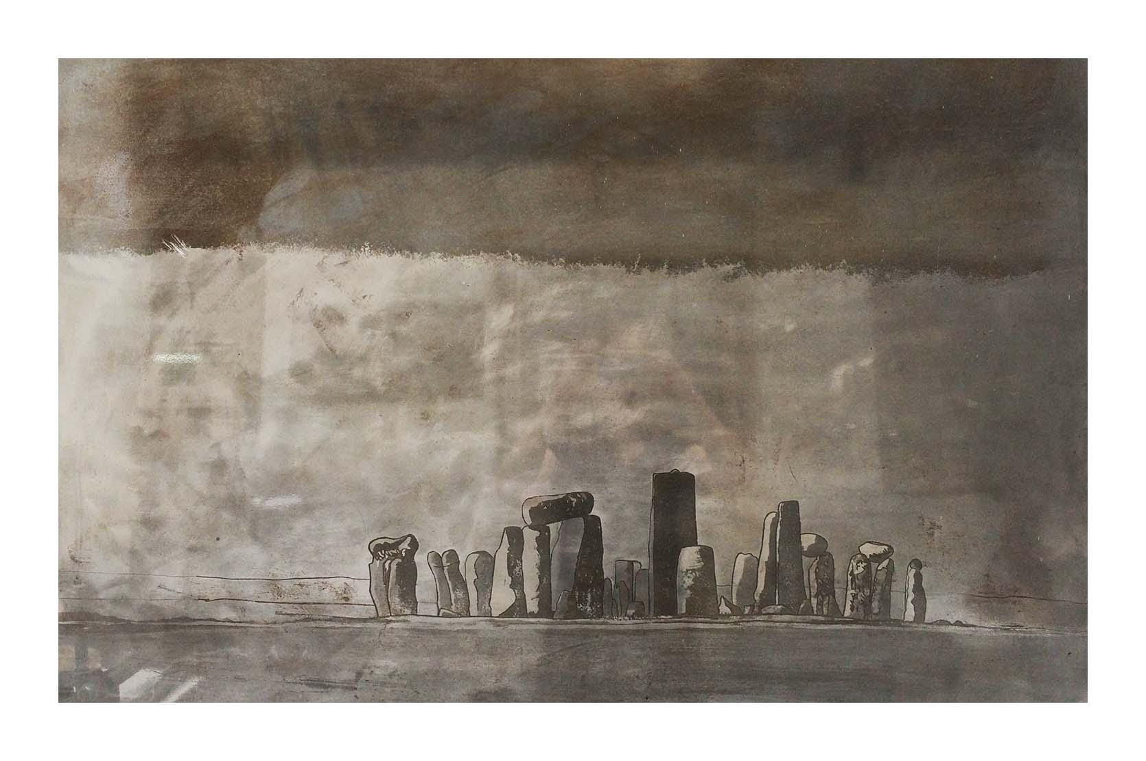 Stonehenge on Steel print