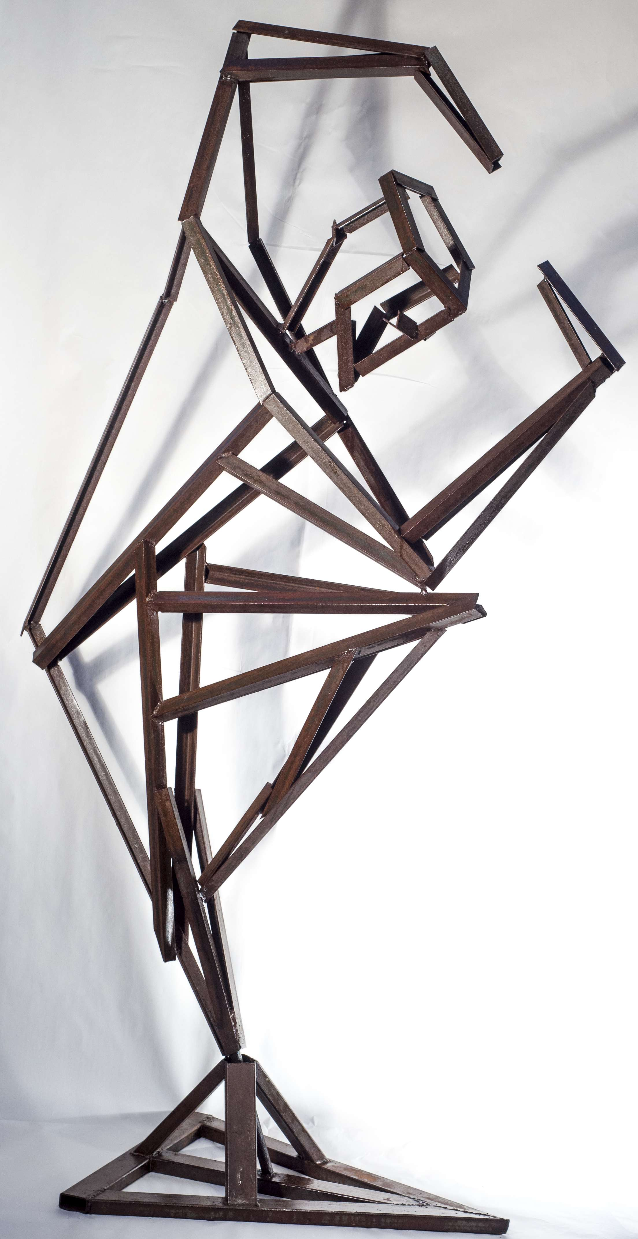 figurative angle iron sculpture