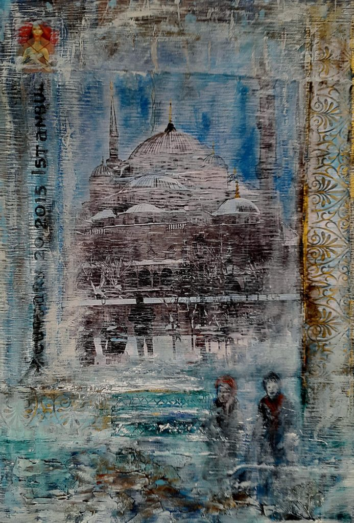 Blue day in Istanbul print