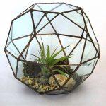 Capri glass planted sculpture