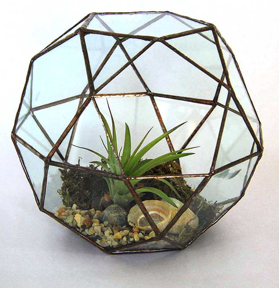 Capri glass planted sculpture