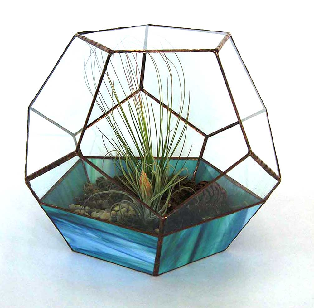 Guess glass planted sculpture