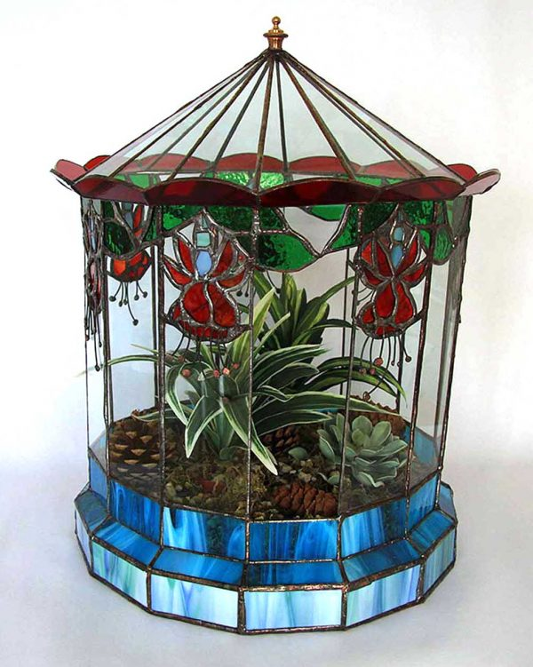 Wardian Fusia planted sculpture
