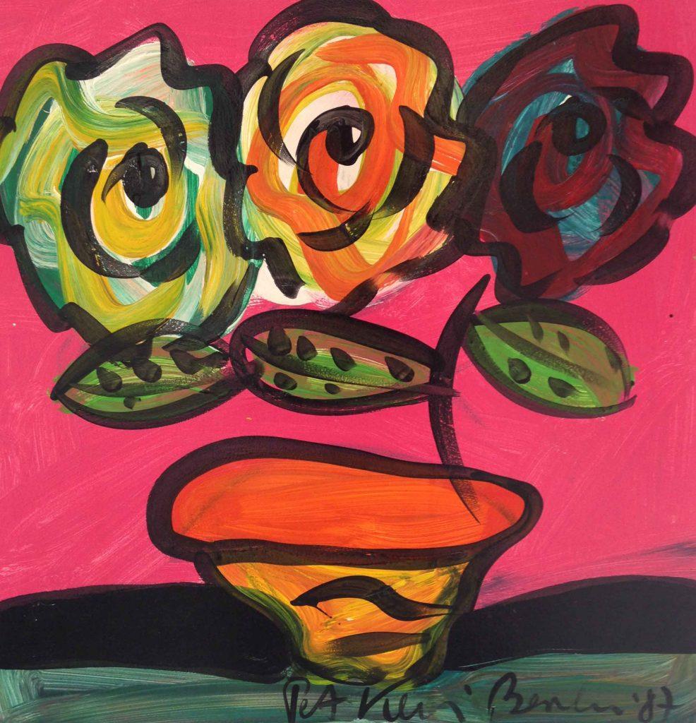 Flowers, Oil on BOard 300