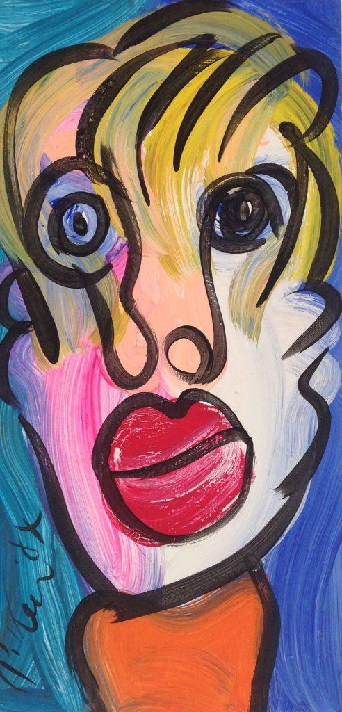 My Friend Joan Mirro Oil on Board