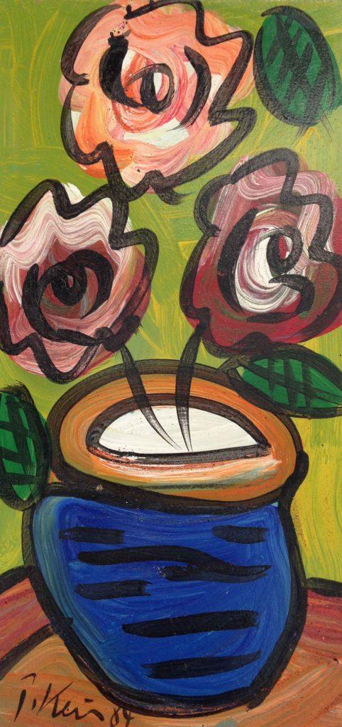 Vase of Flowers Acrylic on BOard 300