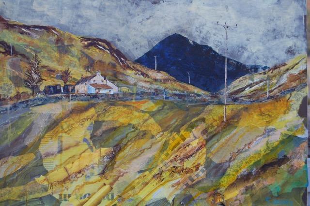 print of hills