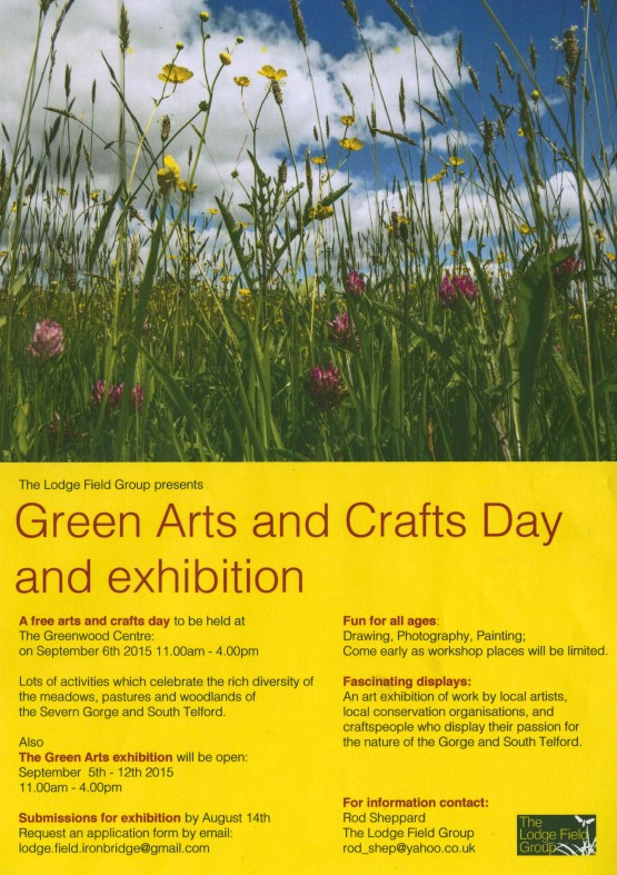 Green Arts and Crafts Poster