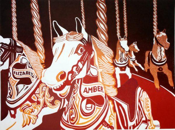 carousel horses print
