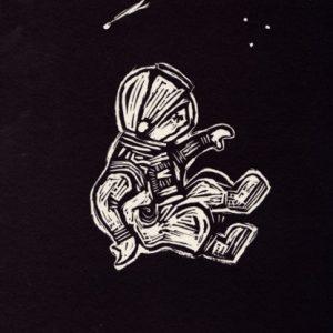 Astronaut-closeup print