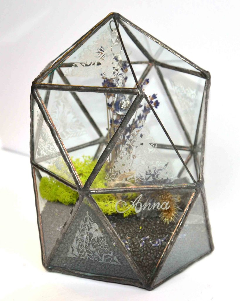 Igloo glass planted sculpture