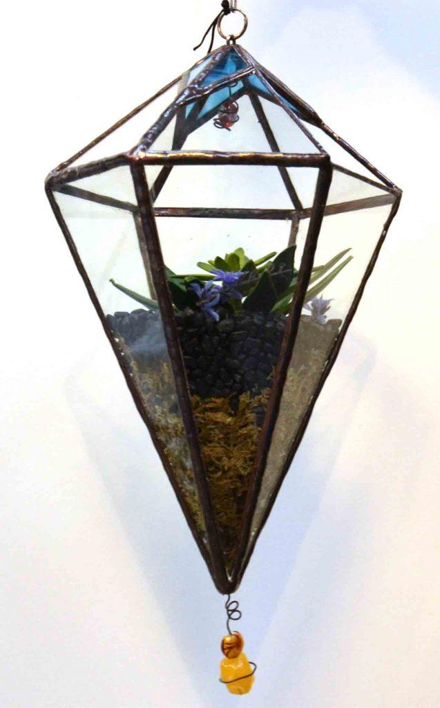 Vixen glass planted sculpture