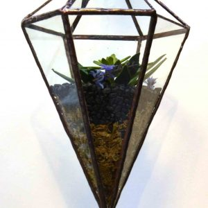 Vixen glass planted sculpture