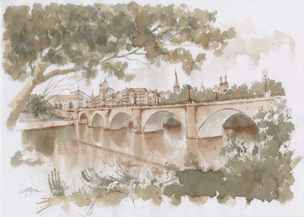 El Puente (Logroño, Spn) 38x27cm