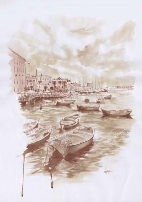 El Puerto (Bari, Puglia)(54x38cm)
