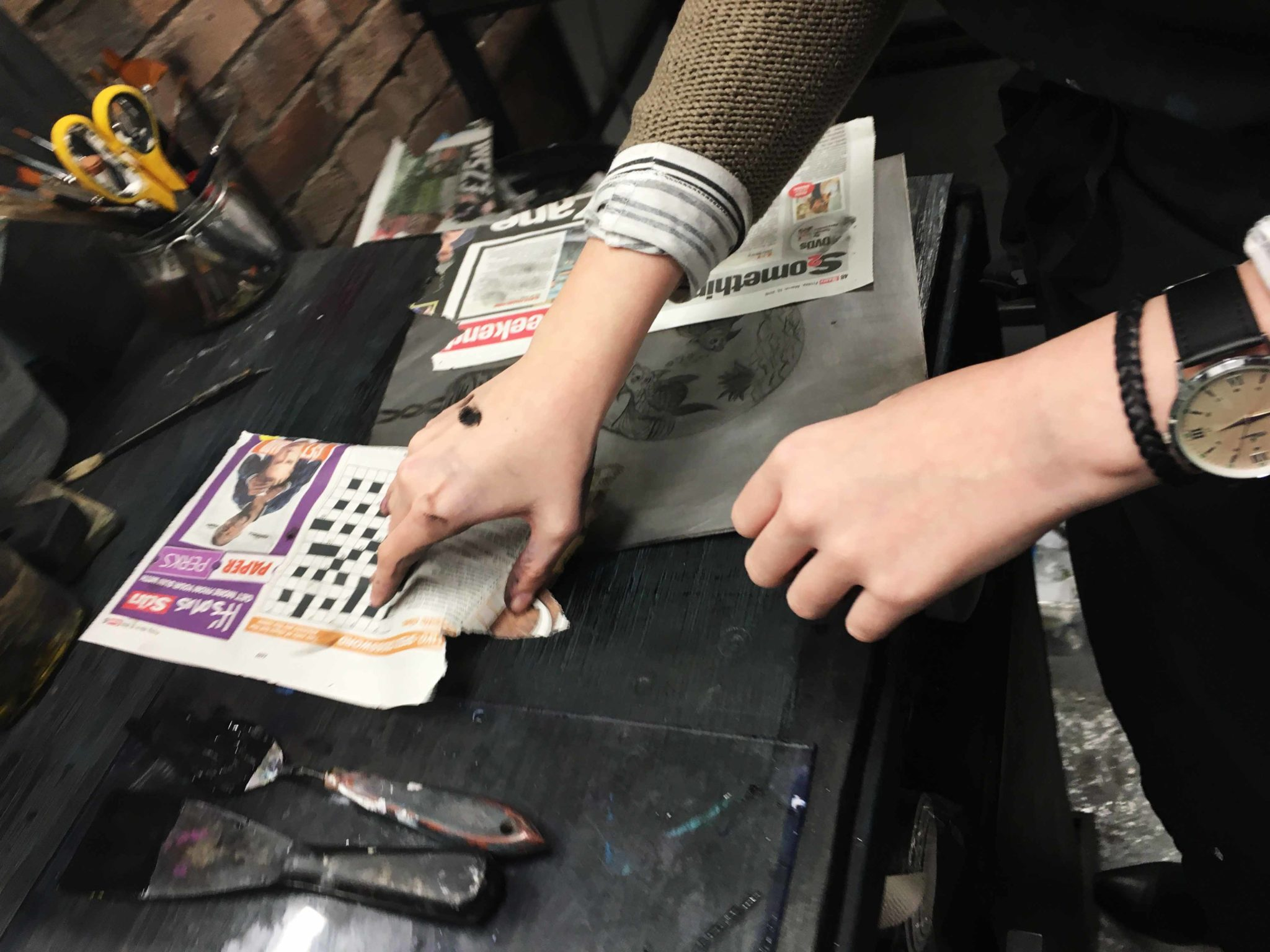 1 Day Dry-point Printmaking Workshop