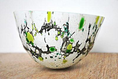Isla Contoy - Kiln formed fused glass vessel