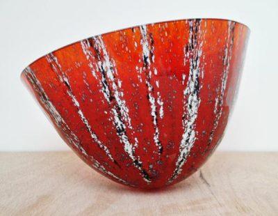 Pyrrhus - Kiln formed fused glass art vessel