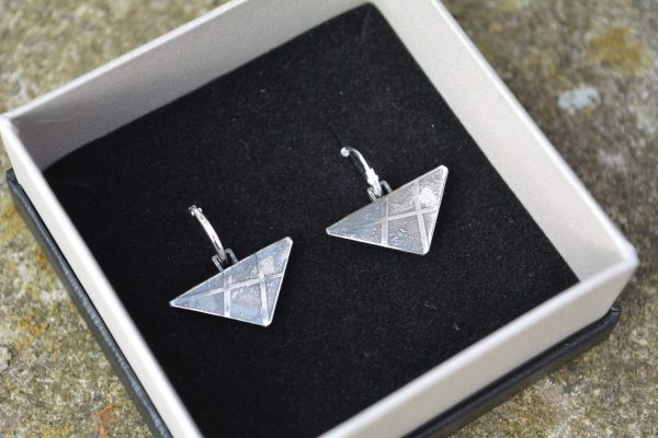 Hand-made etched earrings