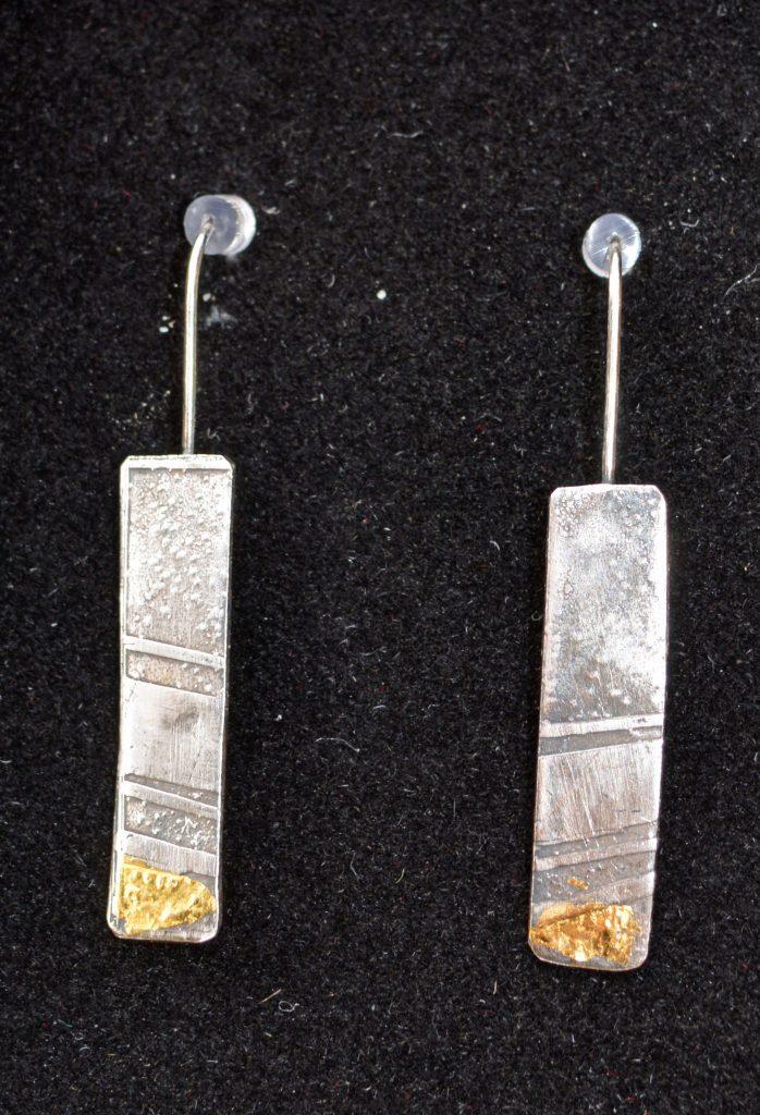 Hand-made Long drop earrings by Jo Mollart-Highfield