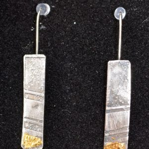 Hand-made Long drop earrings by Jo Mollart-Highfield