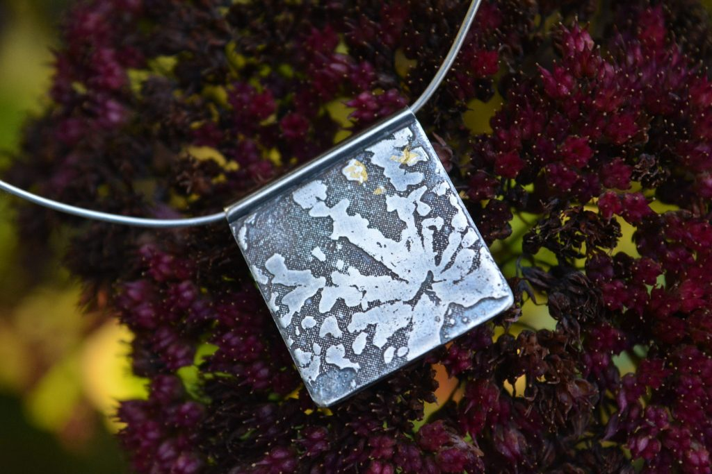 Hand-made necklace by Jo Mollart-Highfield