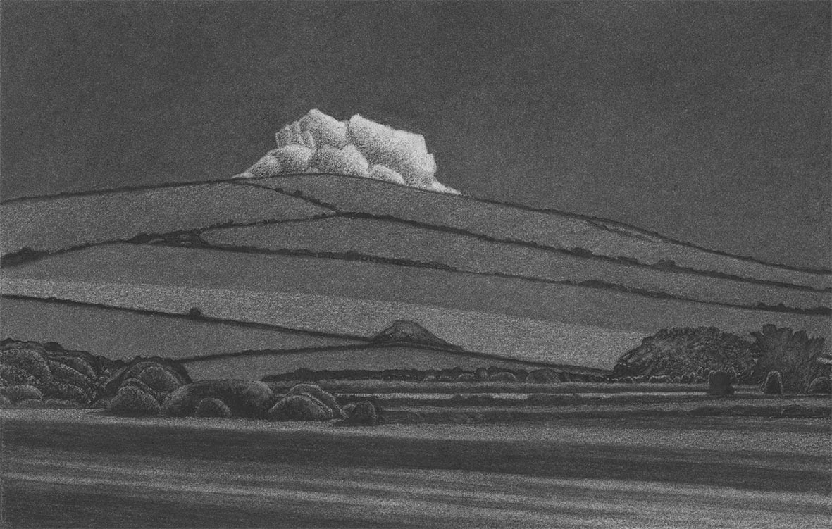 Dorset Landscape with Cloud