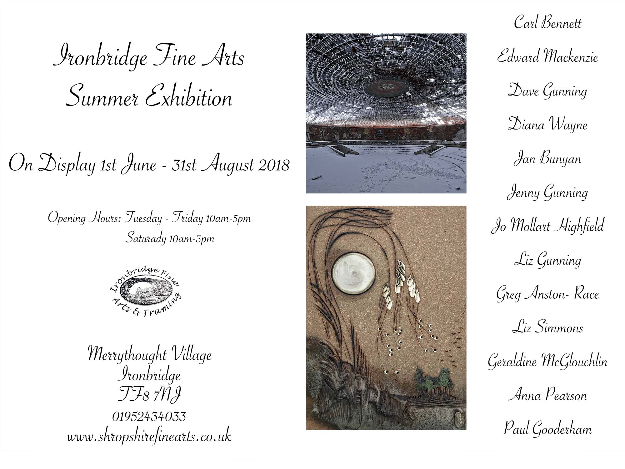 Summer 2018 Exhibition Flyer