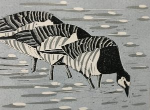 'Barnacle-Geese'-Artwork-by-Emma-Kirkman-300x221