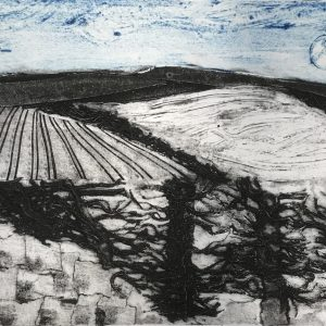 "Emma Kirkman Collagraph "" January"""