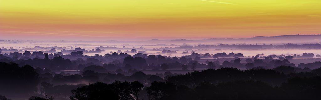 Shropshire panoramic sunrise by David Jones